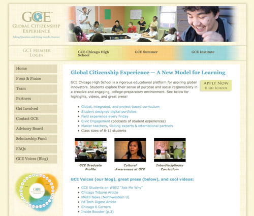Customized WordPress Design for Global Citizenship Experience Private School