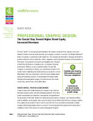 Professional Graphic Design: The Crucial Step Toward Higher Brand Equity, Increased Revenues