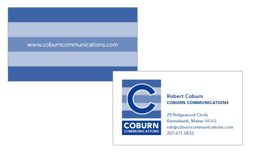 Business Card Design for Coburn Communications