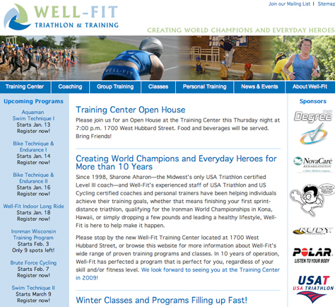 Well fit home page